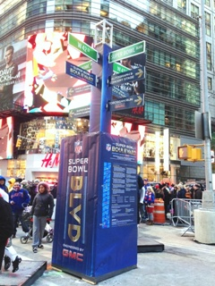 Super Bowl Boulevard in Times Square NYC