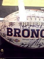 Denver Broncos autographed football