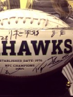 Seattle Seahawks autographed football