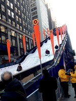 Bob sled ride in Times Sqaure