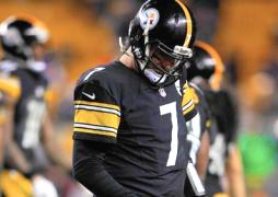 Big Ben hangs his head after being bested by Joe Flacco during the Wildcard Playoff Game