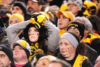 Steeler fans learn the meaning of misery after a sound spanking by the Baltimore Ravens in the Wildcrad Playoff Game
