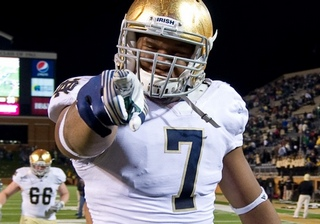 Stephon Tuitt from Notre Dame is a sound draft pick and excellent defensive lineman