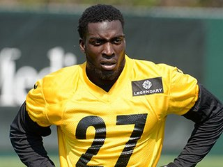 Cornerback Senquez Golson injured on the practice in Latrobe on Monday August 1, 2016