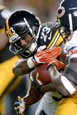 Running back Felix Jones fumbles the ball in the first quarter against the Chicago Bears