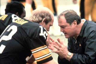 Steeler's Coach Chuck Noll was a strong mentor to Quaterback Terry Bradshaw in the 1970's