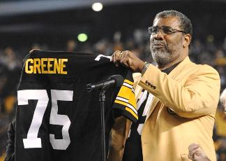 Mean Joe Greene is honored with a #75 Jersey retirement ceremony