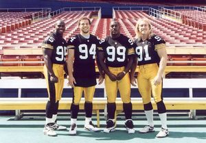 Kevin Greene spoke lovingly about his time playing with the Pittsburgh Steelers